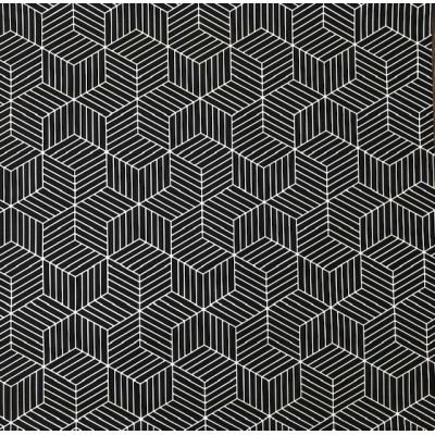 Tapeta A26501 czarne z białym sześciokąty
