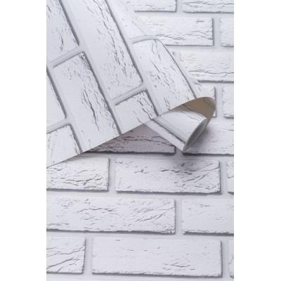 Tapeta 137301 biała cegła z efektem 3D