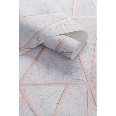 Tapeta EP3703 SOHO beton trójkąty i kwadraty