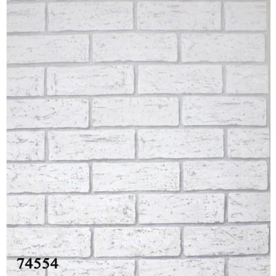 Tapeta 74554 biała cegła z efektem 3D