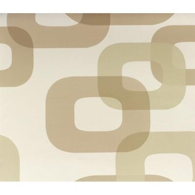 Tapeta 6231-40 kwadraty wzory 3D beż krem