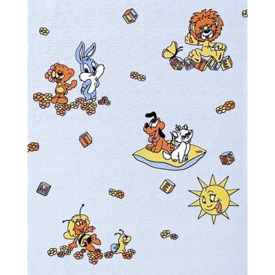 Tapeta 007-22 dzieci bajka Maja Pluto niebieska