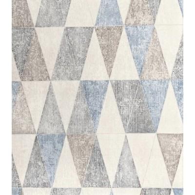 Tapeta 92702 pastelowe trójkąty szare błękit fliz