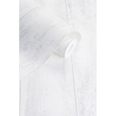 Tapeta 125804 biała drewniana deska VINTAGE