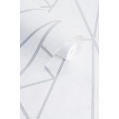 Tapeta 162306 SOHO biały beton trójkąty i kwadraty