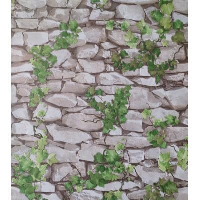 Tapeta 5695-01 kamienny mur z bluszczem z efektem 3D