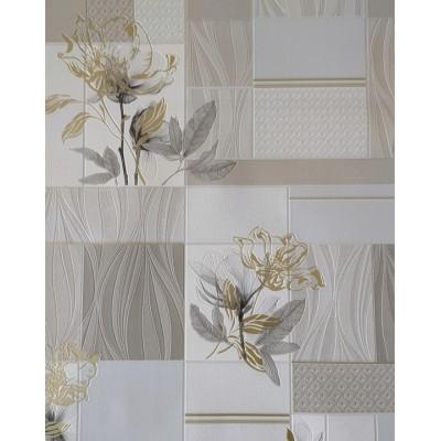 Tapeta 5654-10 płytki w kwiaty