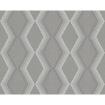 Tapeta 36262-4 romby figury geometryczne ciemna siwa